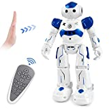 Cradream RC Robots for Kids, Remote Control Robot Intelligent Programmable Gesture Sensing Robot Toys for 3-12 Year Old Boys Girls Birthday (Blue)