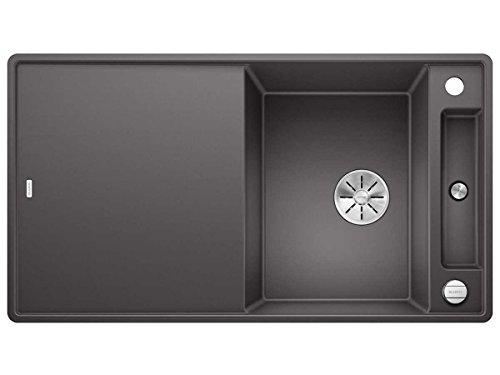 Blanco Axia III 5 S-F Felsgrau Dunkelgrau 523 232 Granitspüle Spülbecken Küche mit Glasschneidbrett Exzenterbetätigung