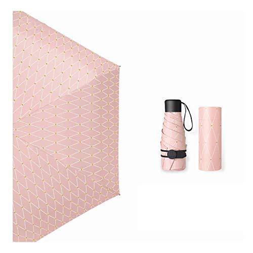 JIAJBG Paraguas Plegables Pequeños Paraguas Mini con Caja de Luz Diseño Compacto Perfecto para Viajes Ligero Portátil Portátil Sunamp Outdoor Sunamp; Umbrellas de Lluvia Reutilizabl