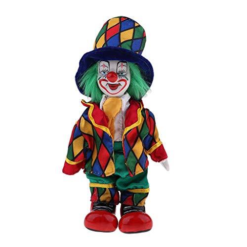 KODORIA Clown Doll Clown Figure Doll Halloween Ornaments Home Table Desk Top Decor - #4