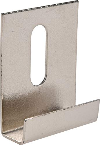 "Hillman 54117 Wide Channel Metal Mirror Clips (1/4"" x 1"" x 1-1/2"") - 15 Pieces"