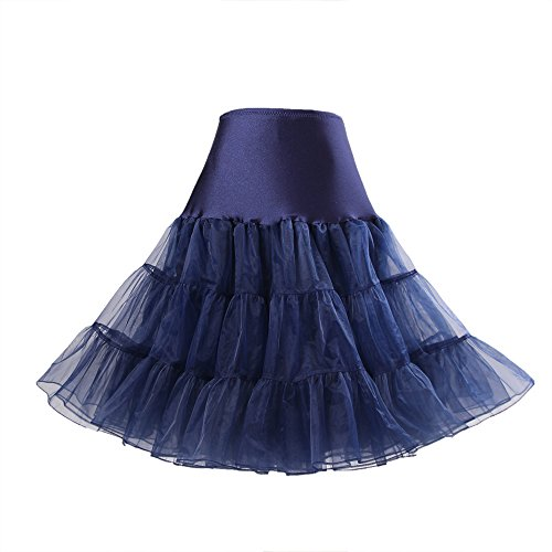 Boolavard 50s Vintage Petticoat Rockabilly Unterrock Wedding Bridal Petticoat in Mehreren Farben...