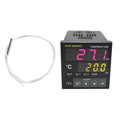 Inkbird Digitale PID Regolatore di Temperatura di 12-24V Termostato ITC-100RL + PT100 Termocoppia Sonda Sensore