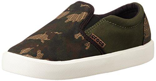 crocs CitiLane Novelty Slipon Snkr, Unisex-Kinder Sneakers, Mehrfarbig (Camo 960), 32/33 EU (J1 Unisex-Kinder UK)