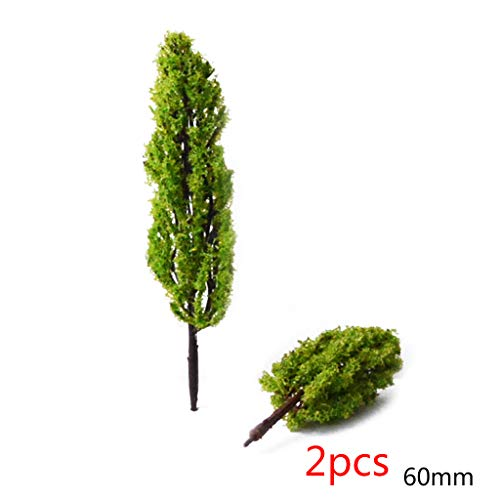 Junlinto,2 Stks Miniatuur Rubberen bomen DIY Micro Tuinplant Bloempot Bonsai Poppenhuis Desktop Decoraties Bouwmodellen Levering