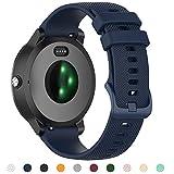 Tosenpo Correa para Garmin Vivoactive 3,20 mm Silicona Correa de Repuesto Ajustable para Garmin Vivoactive 3 Music/Vivoactive 3/Venu/Luxe/Style/Forerunner 245/645 Music Smartwatch (Azul)