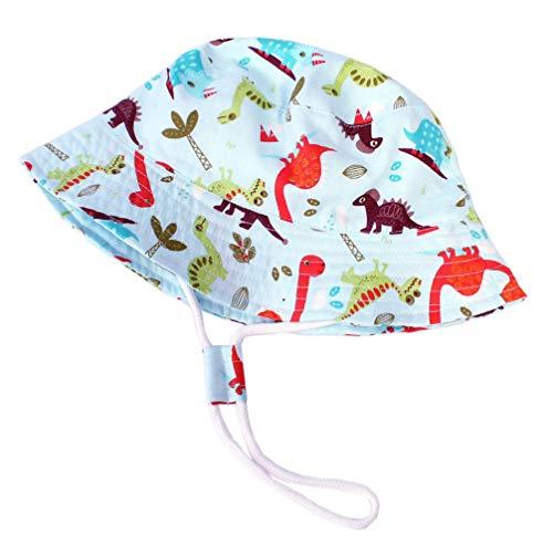 NONE Dinosaurier Eimer Hut Kleinkind Sonnenschutzkappe mit Verstellbarer Schnalle Anti-UV-Sommerfischen Outdoor-Kopfbedeckung (Kopfumfang 52Cm)
