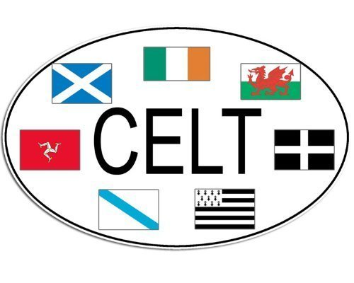 GHaynes Distributing Oval Celt w/Celtic Flags Sticker Decal (Ireland Irish Decal) Size: 3 x 5 inch
