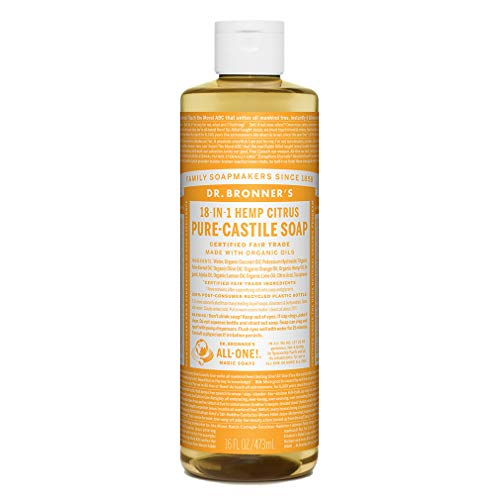 Dr. Bronner's Liquid Soap Citrus, Flüssigseife Zitrus Orange 473 ml