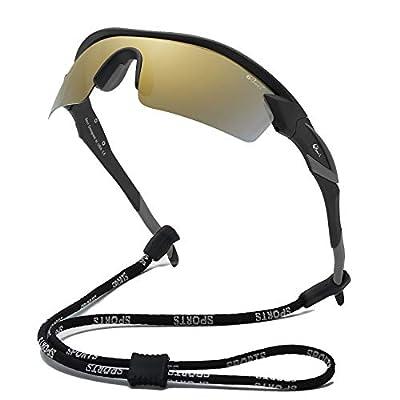 Bevi Polarized Sports Sunglasses Driving Shades for Men and Women TR90 Ultralight Frame TPH2C4