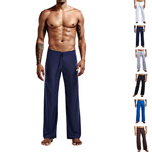 snaked cat Pantalones deportivos sueltos para hombre con cuerda elástica de la cintura, pantalones suaves de seda de hielo