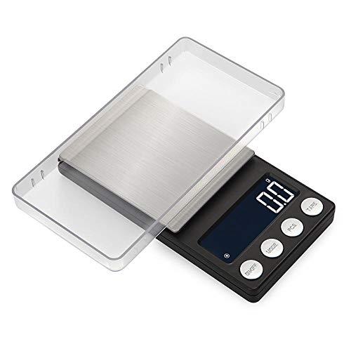 Mini balanzas portátiles de bolsillo para joyería 0 01g Peso de laboratorio digital de precisión para joyas de oro Balanza electrónica 0.1gx 500g