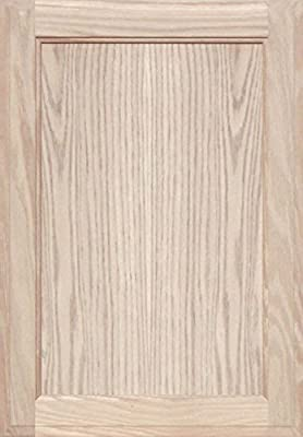 Unfinished Oak Square Flat Panel Cabinet Door by Kendor, 23H x 16W