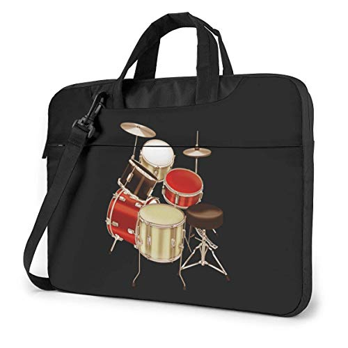 Drum Set Printed Quakeproof Laptop Bag Briefcase Shoulder Messenger Bag Satchel Tablet Bussiness Carrying Handbag