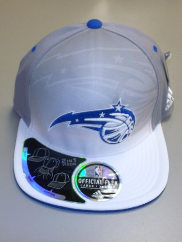 Orlando Magic Flex 2 in 1 Visor Adidas Hat Größe 6 7/8-7 1/4 (S/M) - TY30Z
