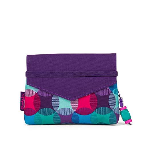 Satch Beauty Wallet – Kosmetiktasche, Zwei Fächer, mit Spiegel - Hurly Pearly, Blau