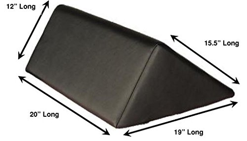"Therapist's Choice® Triangle Massage Bolster Extra Large, 19"" x 12"" x 20"" x 15.5"", (Black)"