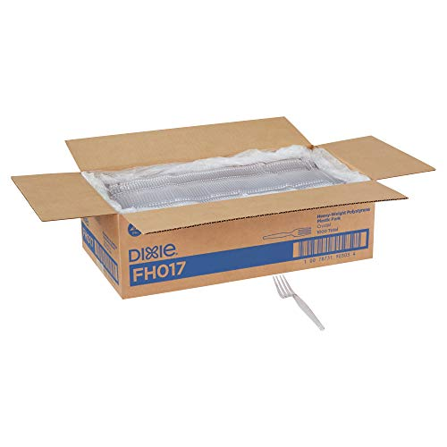 Dixie 7.13' Heavy-Weight Polystyrene Plastic Fork by GP PRO (Georgia-Pacific), Clear, FH017 , Case of 1,000