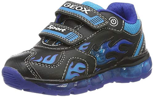 Geox Jungen J Android Boy C Sneaker, Schwarz (Black/Lt Blue C0035), 26 EU