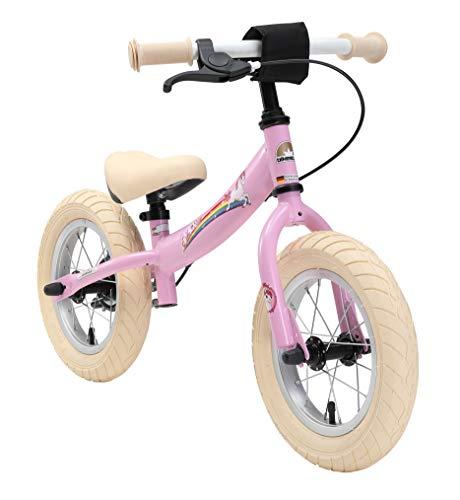 BIKESTAR Kinder Laufrad Lauflernrad Kinderrad für Mädchen ab 3-4 Jahre | 12 Zoll Sport Kinderlaufrad Pink | Risikofrei Testen