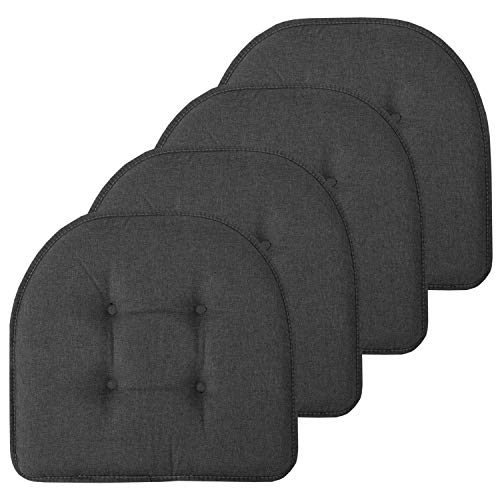 Sweet Home Collection Chair Cushion Memory Foam Pads Tufted...