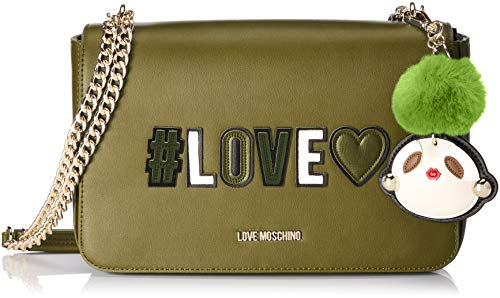 Love Moschino Damen Borsa Pu Henkeltasche, Grün (Verde), 6x18x29 cm