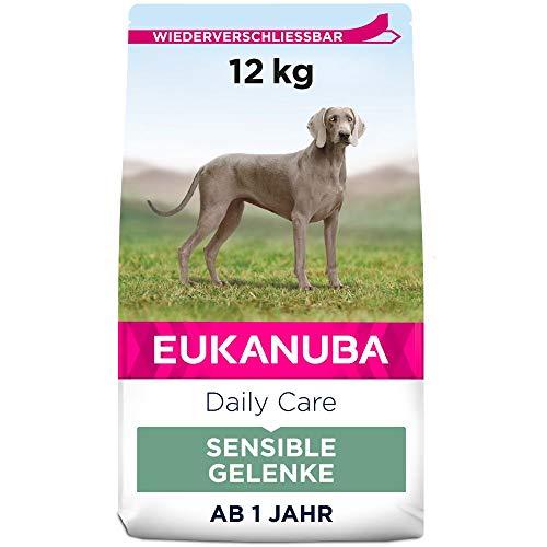Eukanuba Daily Care Sensitive Joints Hundefutter - Trockenfutter für Hunde mit Gelenkbeschwerden – Spezialfutter geeignet für alle ausgewachsenen Rassen, 12 kg