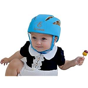 ELENKER Baby Adjustable Safety Helmet Children Headguard Infant Protective Harnesses Cap Beige