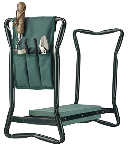 groundlevel Multi Purpose Easy Relax Garden Kneeler And Chair With Tool Bag, Easy To Carry And Foldaway, Helps To Stop Back And Leg Pain
