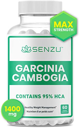 100% Pure Garcinia Cambogia Extract 95% HCA, 1400 mg | Appetite Suppressant | Weight Loss Pills | Non-Stimulating, Burn Fat & Boost Metabolism, Highest Potency Diet Pills for Men & Women | Made in Canada