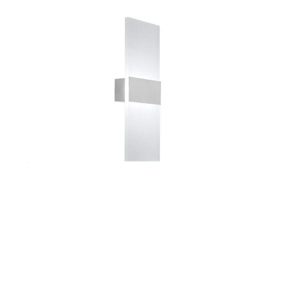 Lightsjoy L/ámpara de Pared LED de Acr/ílico Interior Apliques de Pared de Aluminio,Moda Agradable Luz de Ambiente Ideal para La Sala de Estar Escalera Pasillo Dormitorio,etc,12W Blanco C/álido
