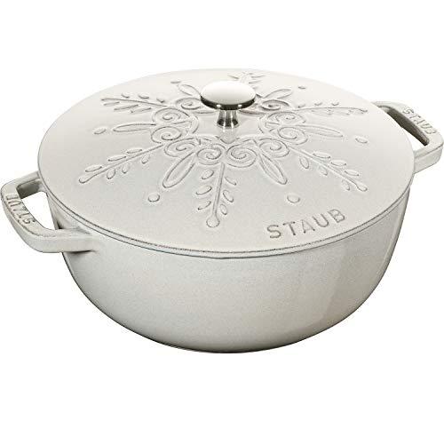 STAUB Horno francés redondo de hierro fundido con forma de copo de nieve (24 cm)