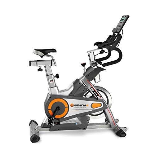 BH Fitness i. SPADA 2 Racing H9356I - Bicicleta de interior con sistema de freno triple (compatible con Android y Apple)