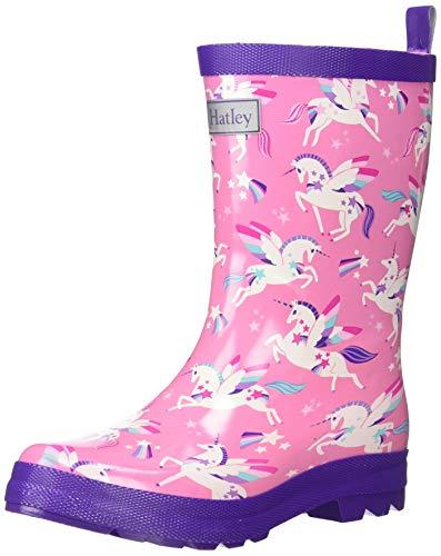 Hatley Girls' Big Printed Rain Boots, Winged Unicorns, 1 US