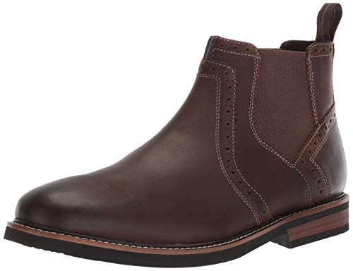 Nunn Bush Men Otis Chelsea Fashion Boot with KORE Comfort Walking Technology, Brown Crazy Horse, 11