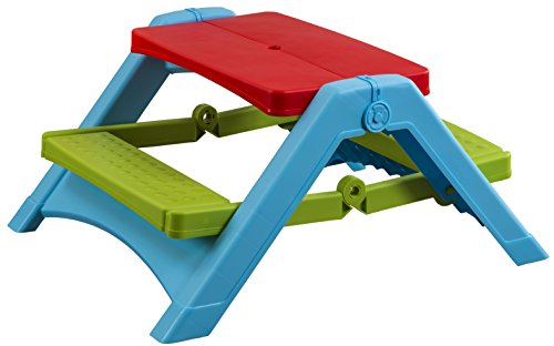 PalPlay Foldable Picnic Table Red/Green/Blue
