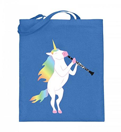Chorchester Para todos los fans de los unicornios y clarinete – Bolsa de yute (con asas largas).
