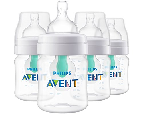 commercial Philips Avent Anti-colic Baby Bottle AirFree 4 Oz 4 Pack, SCF400 / 44 anti colic bottles
