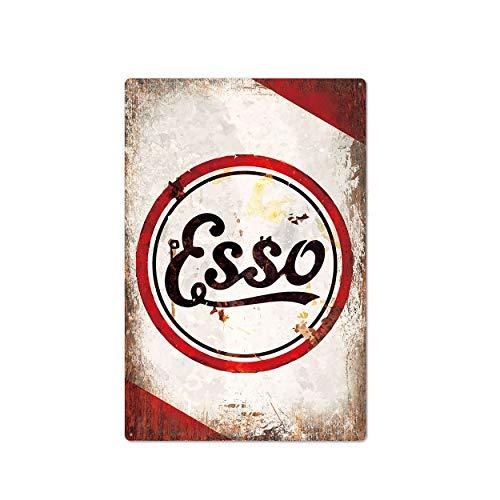 XunYun Blechschild, Esso-Motoröl, 20,3 x 30,5 cm, Deko für Garage, Tankstelle, Zuhause, Bar, Pub, Café