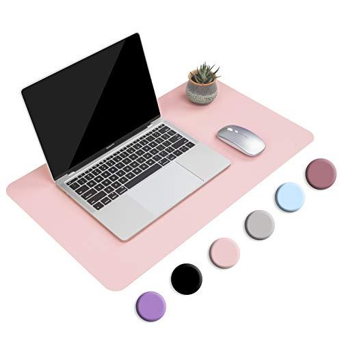 Multifunktionales Office Mauspad, YSAGi 60x35 cm Wasserdichte Schreibtischunterlage aus PU-Leder, Ultradünnes Mousepad zweiseitig nutzbar, ideal für Büro und Zuhause (Rosa-single, 60 * 35 cm)