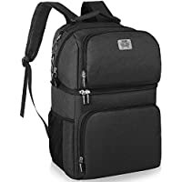 Smiler+Double Deck Insulated Cooler Backpack (Black)