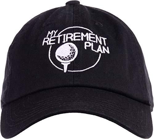 My (Golf) Retirement Plan | Funny Saying Golfing Shirt Golfer Ball Humor for Men Baseball Dad Hat Black