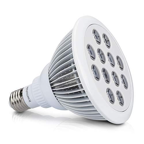 kwmobile LED Pflanzenlicht E27 Fassung - 12W Pflanzenlampe Grow Lampe - Licht für Pflanzen Gewächshaus Beleuchtung - Pflanzenbeleuchtung Blumenlampe