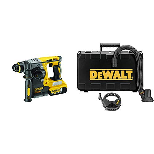 DEWALT 20V MAX SDS Rotary Hammer Drill, Tool Only (DCH273B) & DWH052K Large Hammer Dust Extraction - Demolition