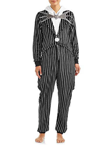 Pijama de una pieza con bolsillos, diseño de Jack Skellington Union - negro - S