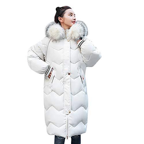 FRAUIT Winterjacke Wintermantel Lange Daunenjacke Jacke Outwear Frauen Winter Warm Daunenmantel Solide Lässig Damen Feste Beiläufige Dicker Winter Slim Down Lammy Jacke Langen Mantel