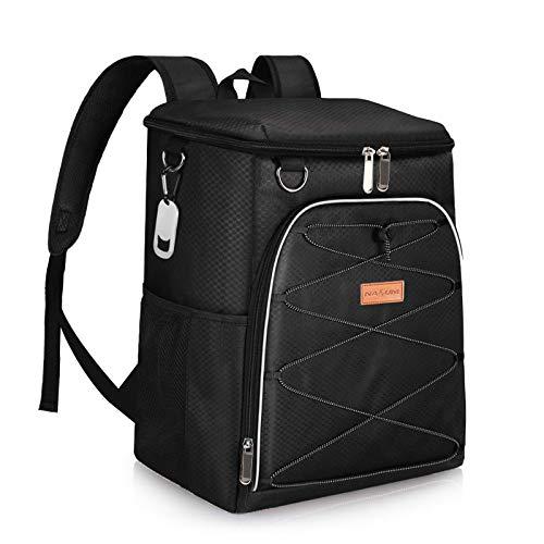 NASUM Kühltasche Picknicktasche Thermotasche Lunch Tasche isolierte Kühlbox Lebensmitteltransport für Büro Arbeit Outdoor Camping Reisen, Eistasche klappbar faltbar 33,8 x 21,8 x 37,8 cm, 28L