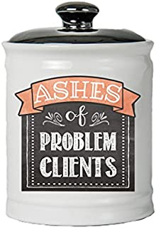 Cottage Creek Ashes of Problem Clients Round Jar Ceramic Jar/Funny Lawyer Gifts Adult Piggy Banks [White]