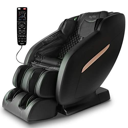 Mynta Massage Chair 3D SL-Track: Full Body Recliner with Thai Stretch, Zero Gravity,Bluetooth...