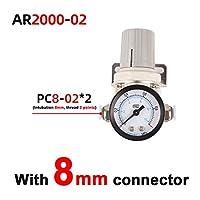 圧力調整器の空気 AR2000-2 AR3000-3空気圧調整器の圧力調整器圧力低減バルブ圧力ゲージ 燃圧レギュレーター (Color : White)